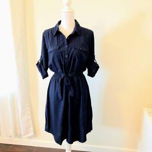 Juniors Millenium Large Button Down Shirt Dress
